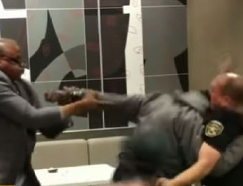 VIDEO: Security Guard Attacked by Homeless Man at McDonald's. Reasonable Force?