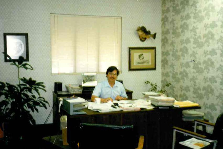 El Dorado Insurance Agency in the beginning - Bob Ring in the office