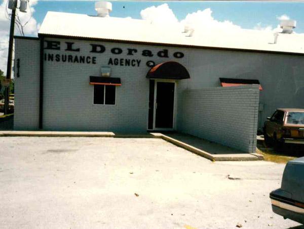 El Dorado Insurance Agency in the beginning - exterior of office