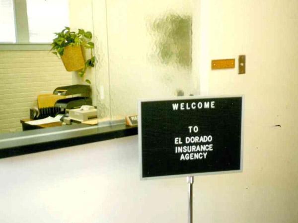 El Dorado Insurance Agency in the beginning - receptionist area